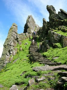Skellig Michael, a 1400 year old monastery and World Heritage Site.