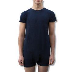 Image of Kids Navy Short Sleeve Bodysuit Size 2-14yrs