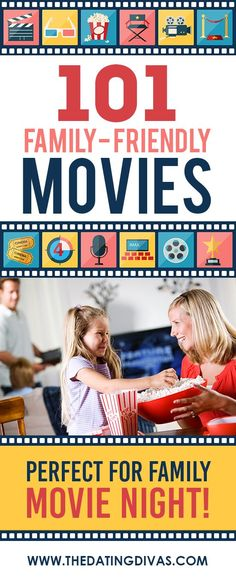 101 suggestions for your next family movie night! Tried and true films that are family-friendly! Includes links to the movies and descriptions.