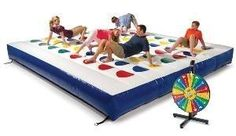 Massive Inflatable Twister Game by alexandria
