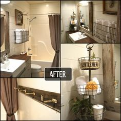 Bathroom Makeovers Country Style rustic bathroom makeover - one room challenge | the pink