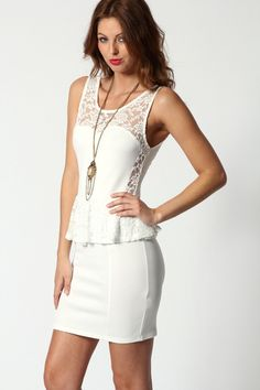 Leona Lace Peplum Dress