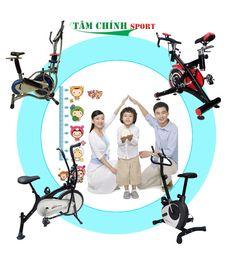 Xe đạp tập thể dục tăng chiều cao cho trẻ