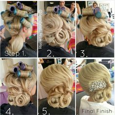 Classic bride's hairstyle
