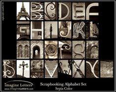 Scrapbooking AZ all alphabet art print  Romantic by imagineletters, $25.00