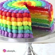 All the colors of the spectrum in one cake! All the colors of the spectrum in one cake! Food Cakes, Cupcake Cakes, Cupcakes, Rainbow Food, Cake Rainbow, Rainbow Birthday Cakes, Rainbow Sweets, Rainbow Rice, Cake Recipes