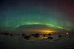 Aurora borealis. Estonia, Harjumaa. By Jarek Jõepera   #Estonia