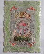 Vintage VICTORIAN LACE Die Cut & Embossed VALENTINE CARD With Love