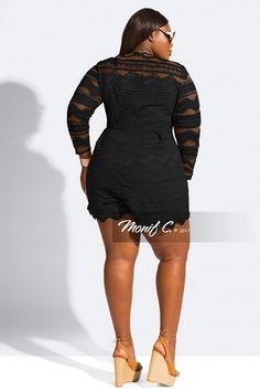 New Arrival Plus Size Swimwear Plus Size Lingerie Shop All Plus Size Romper, Plus Size Dresses, Plus Size Outfits, Plus Size Lingerie, Plus Size Swimwear, Beautiful Clothes, Beautiful Outfits, Black Romper, Playsuit