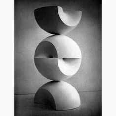 Max Bill, Construction from Two Rings, 1965  #maxbill #art #fineart #sculpture #60s #bcolvin #amazingthings #noreaster