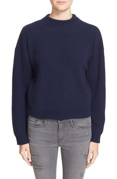 FRAME Rib Knit Crop Cashmere Sweater. #frame #cloth #