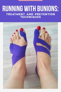 Foot pain makes it hard to keep lacing up day after day, but these bunion treatment tips will help give you relief and keep you on the road. Bunion Exercises, Best Shoes For Bunions, Bunion Remedies, K Tape, Bunion Relief, Bunion Shoes, Kinesiology Taping, Sore Feet, Good Mental Health