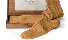 Falke launch world's most expensive socks made, from vicuña, for £726 (maybe the same pair http://www.therichest.com/expensive-lifestyle/fashion/1188-a-pair-the-most-expensive-socks-in-the-world/ )