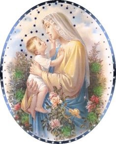 Jesus loves His Mama. If you love Jesus, why would you not His Mama, too? Mary Jesus Mother, Blessed Mother Mary, Mary And Jesus, Blessed Virgin Mary, I Love You Mother, Mother And Child, Vintage Holy Cards, Mama Mary, Sainte Marie