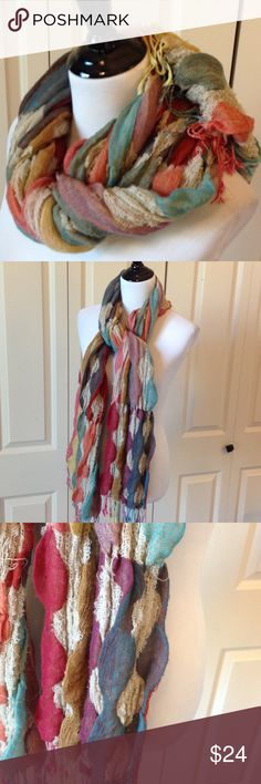 Fall Multi-Colored Scarf Rectangular. AO Accessories Scarves & Wraps