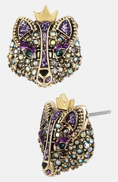 I <3 them....Betsey Johnson 'Imperial' Fox Stud Earrings available at #Nordstrom