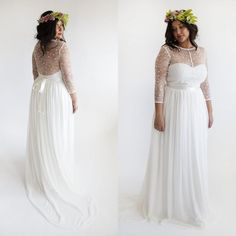 Ball Gown Dresses Plus Size Boho Wedding Dress 2015 Beach Bohemian Dresses Sexy Sheer Lace Jewel Neck Long Sleeve Elegant A Line Illusion Chiffon Bridal Gowns The Best Wedding Dresses From Eiffelbride, $117.28| Dhgate.Com - going out maxi dresses, red fall dress, women's dresses *ad