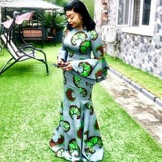 2019 Beautiful Ankara Skirt And Blouse Styles You Can Rock This 2019 African Bridesmaid Dresses, African Dresses For Women, African Print Dresses, African Attire, African Fashion Dresses, Fashion Outfits, Women's Fashion, African Inspired Fashion, African Print Fashion