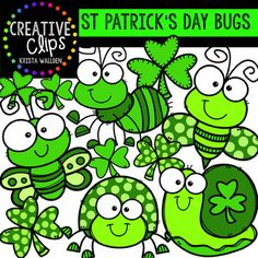 This 15-image freebie is full of happy bugs for St. Patrick's Day! (15 total images: 8 vibrant, colored images, 7 black and white versions) Images include - bee - butterfly - snail - beetle - ant - two versions of shamrocks Check out these related clipart sets! LEPRECHAUN LITTLES ST PATRICK'S DAY GOODIE BAG SHAMROCK BUDDIES...