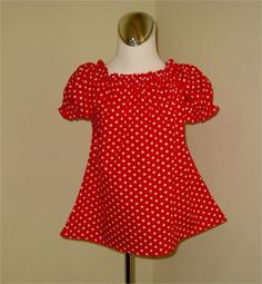 Here is an adorable custom made peasant top made with a cotton fabric...   Your little princess would be the center of attention in this sweet peasant top...   All seams are professionally finished.   The top can be made size 12m to 7     @@@@@@@@@@@@@@@@@@@@@@@@@@@@@@@@@@@@@@@@@@@   If you need a different color please email me,maybe I can do it for you.   @@@@@@@@@@@@@@@@@@@@@@@@@@@@@@@@@@@@@@@@@@@     All my creations have been sewn with love and detail in my... pet and smoke free studio…