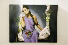 L'altalena dei ricordi  olio su tela 40x50