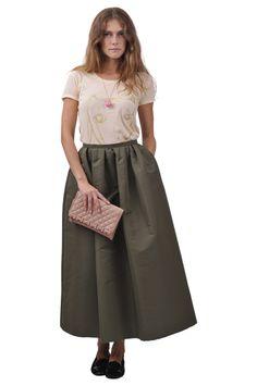 Cat's-Tsumori chisato tshirt, Red Valentino skirt, shoes and bag