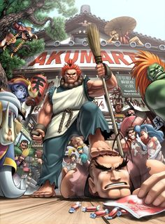 UDON's Art of Capcom Cover 2 by #UdonCrew on deviantART