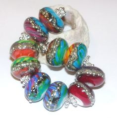 Grammy Nominee  Earring Pairs- Handmade Lampwork Glass Beads by StudioJuls SRA Rainbow colorful by StudioJuls on Etsy https://www.etsy.com/listing/204919245/grammy-nominee-earring-pairs-handmade