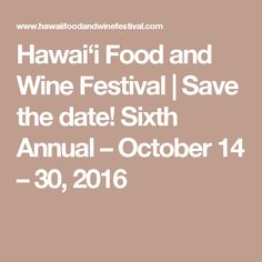 Hawai'i Food and Win