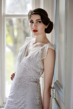 Vintage 1930s wedding gown, BUTTERFLY c. Heavenly Vintage Brides 'Heavenly Collection'