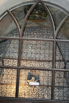 Sedlec Ossuary bone church outside Prague