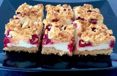 Kruche ciasto z malinami na budyniowej piance - Blog z apetytem Vegan, Sweet And Salty, Cheesecakes, No Bake Cake, Brownies, Good Food, Cooking Recipes, Sweets, Breakfast