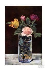 Resultado de imagen de Edouard Manet flowers in a crystal vase c.1882