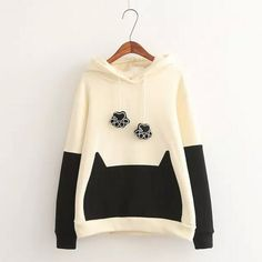 Kawaii cat hooded sweater
