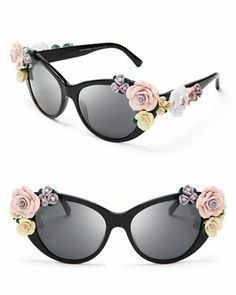 0c26bfa5a8b6 Dolce Gabbana Oversized Floral Cat Eye Sunglasses and other apparel