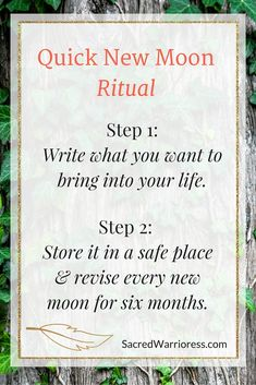 Easy new moon ritual.