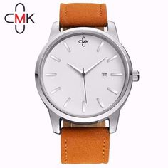 2018 CMK Military Leather Business Quartz Watches Men Top Brand Luxury Sport Casual Calender Wristwatch Relogio Masculino clock Simple Cheap Watches outfit accessories from Touchy Style store Cheap Watches, Casual Watches, Cool Watches, Elegant Watches, Sport Watches, High End Watches, Silver Pocket Watch, Swiss Army Watches, Seiko Watches