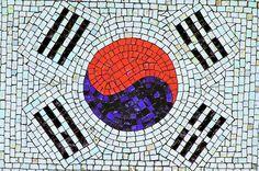 Flag of South Korea, Mosaic, Travel to South Korea, South Korea photo