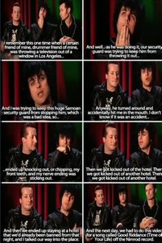 Just watched the video for that and burst out laughing xD Billie is actually adorable. And Tré... Were you never taught to throw TVs out of windows xD I just love his face through the whole thing xD
