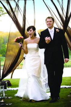 Capture the joy of that first walk as husband and wife!