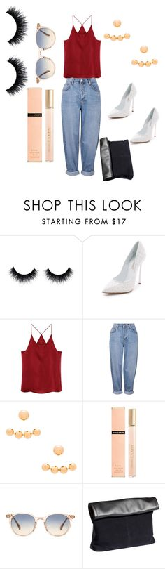"""""""Untitled #23"""" by edens-paradise ❤ liked on Polyvore featuring Casadei, Topshop, Amber Sceats, Prada, Oliver Peoples and H&M"""