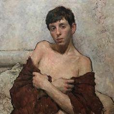 Travis Schlaht - The Red Shawl Artist Painting, Figure Painting, Painting & Drawing, Art Of Man, Naive Art, Gay Art, Art Sketchbook, Portrait Art, Erotic Art