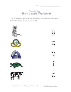 Short vowel e worksheet and other phonics worksheets