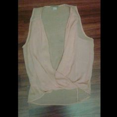 Blouse Open front pink blouse  New  *flawed* Sz medium Tops Blouses