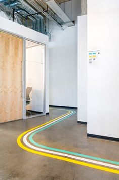 An Office With A Colorful Wayfinding System Inspired By Street Signages. Guess Which Company? - Buildingandinteriors