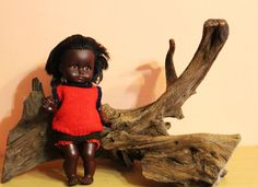 Vintage Vinyl GOTZ Puppe African American Doll Made in Germany Girl Baby Doll Götz by Grandchildattic on Etsy
