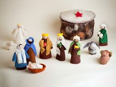 This unique nativity scene is hand made in Kyrgyzstan and includes 11 individually crafted figures; Mary, Joseph, a Shepherd with sheep in hands, 3 Wiseman, an angel, baby Jesus, camel, donkey, sheep and star to create a magical Christmas scene. The set comes with a yurt, the traditional Kyrgyz portable house, and all figures fit inside for easy storage. $220