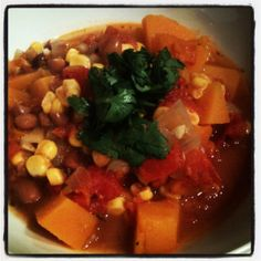 """Three Sisters"" Stew from our December VegCookbook, Vegan Holiday Kitchen."