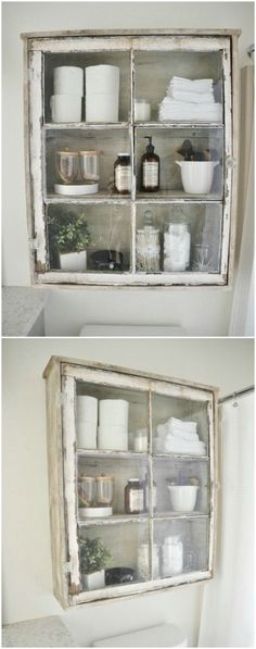 Farmhouse Bathroom Wall Cabinet