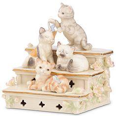 LENOX Figurines: Cats - Sunset Step Kittens Figurine